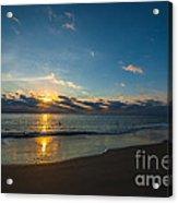 Coastal Beach Sunrise Acrylic Print