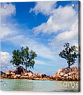 Islands And Clouds, The Seychelles Acrylic Print