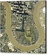 Isle Of Dogs, Aerial Photograph Acrylic Print