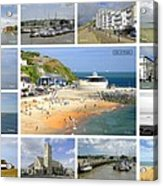 Isle Of Wight Collage - Labelled Acrylic Print