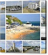 Isle Of Wight Collage - Plain Acrylic Print