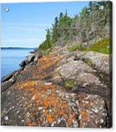 Isle Royale Rocky Shoreline Acrylic Print