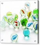 Isolated Marbles Acrylic Print
