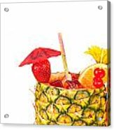 Isolated Tropical Drink Acrylic Print