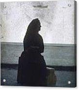 Isolated Woman Acrylic Print