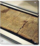 Israel Museum Displays Dead Sea Scrolls Acrylic Print