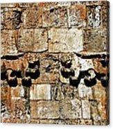 Israel Wall Bas Relief Acrylic Print