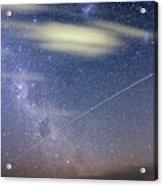 Iss In Southern Hemisphere Skies Acrylic Print
