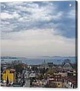 Istanbul Panorama Hdr Acrylic Print