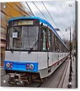 Istanbul Tram In Motion Acrylic Print