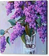 It Is Lilac Time Acrylic Print