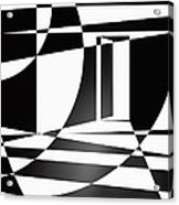 It Isn't Always As Simple As Black And White Acrylic Print