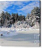 It Snow Reason Acrylic Print