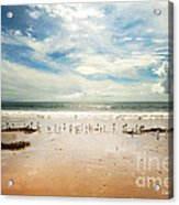 It Was A Sunny Day At The Beach From The Book My Ocean Acrylic Print