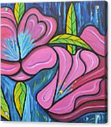 It Was Pink And Blue Acrylic Print