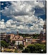 Italian Architecture In Rome City View Acrylic Print