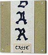 Italian Bar Sign Dsc02638 Acrylic Print