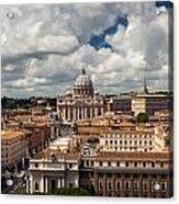 Italian City Rome Overview Acrylic Print