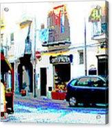 Italian City Street Scene Digital Art Acrylic Print
