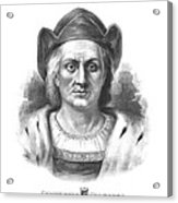 Italian Explorer Christopher Columbus Acrylic Print