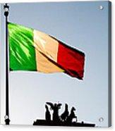 Italian Flag Acrylic Print