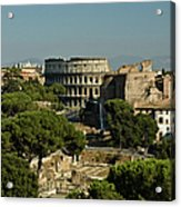 Italian Landscape With The Colosseum Rome Italy  Acrylic Print