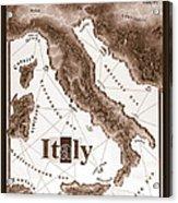 Italian Map Acrylic Print