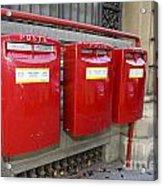 Italian Post Office Boxes Acrylic Print