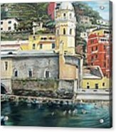 Italian Riviera - Cinque Terre Colors Acrylic Print