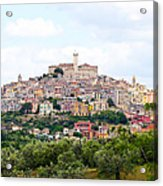 Italian Village From Afar Acrylic Print