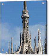 The Spire Of Milan Cathedral Acrylic Print