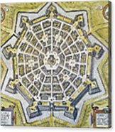 Italy: Palmanova Map, 1598 Acrylic Print