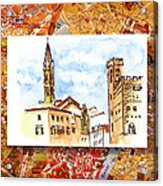 Italy Sketches Florence Towers Acrylic Print