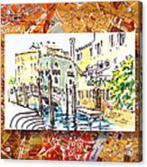 Italy Sketches Venice Canale Acrylic Print