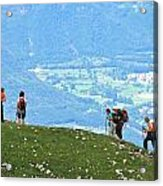 Italy Trekking Acrylic Print