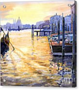 Italy Venice Dawning Acrylic Print by Yuriy Shevchuk