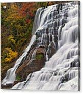 Ithaca Falls In Autumn Acrylic Print