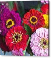 Farmer's Market Flowers II Acrylic Print