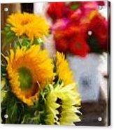 Farmer's Market Flowers Acrylic Print