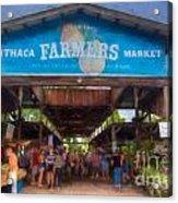 Ithaca Farmer's Market Acrylic Print