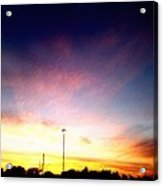 Ithaca New York  Sunset Acrylic Print
