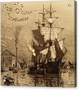 It's Five O'clock Somewhere Schooner Acrylic Print