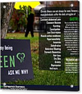 It's Not Easy Being Green Poster Acrylic Print