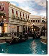 It's Not Venice - Gondoliers On The Grand Canal Acrylic Print