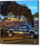 Its Only Money Pulling Truck Acrylic Print