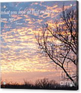 It's What You See Acrylic Print by Kay Pickens
