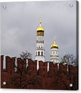 Ivan The Great Belfry Of Moscow Kremlin - Square Acrylic Print