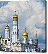 Ivan The Great Bell Tower Of Moscow Kremlin - Featured 3 Acrylic Print