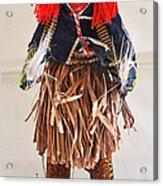 Ivory Coast Native Katchina Doll Acrylic Print