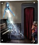 Ivory Ghost Acrylic Print